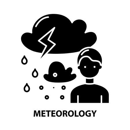 meteorology icon, black vector sign with editable strokes, concept illustration