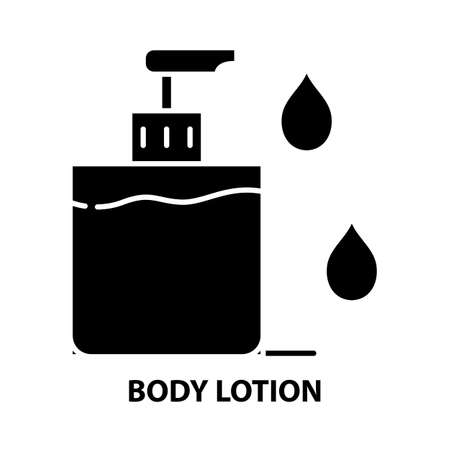 body lotion symbol icon, black vector sign with editable strokes, concept illustration