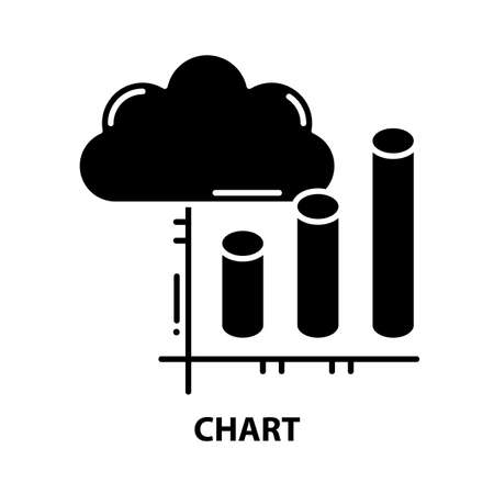 chart icon, black vector sign with editable strokes, concept illustration