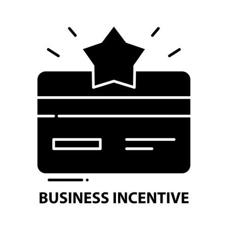 business incentive icon, black vector sign with editable strokes, concept illustration Иллюстрация