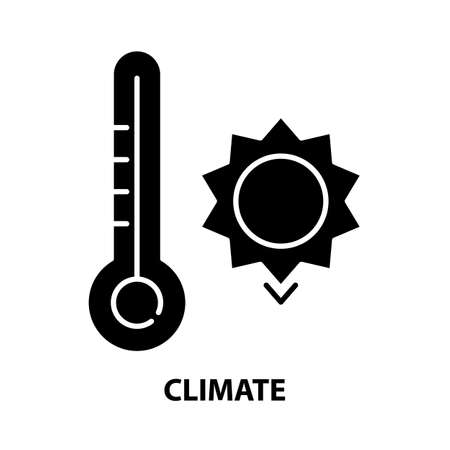 climate symbol icon, black vector sign with editable strokes, concept illustration 向量圖像