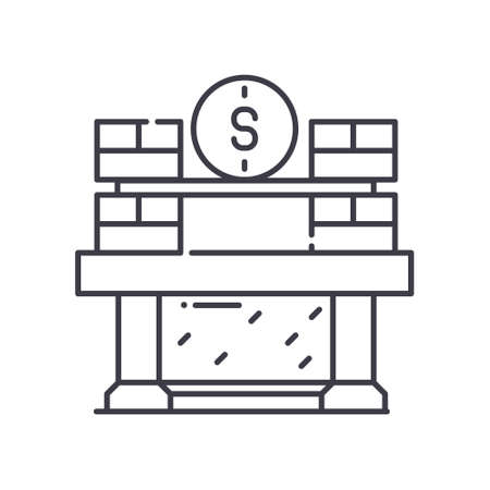 Investment capital icon, linear isolated illustration, thin line vector, web design sign, outline concept symbol with editable stroke on white background.