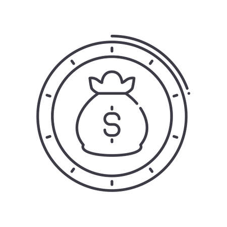 Investment plan icon, linear isolated illustration, thin line vector, web design sign, outline concept symbol with editable stroke on white background. 向量圖像