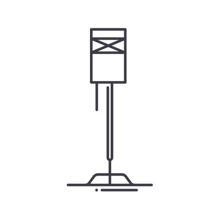 Interior lamp icon, linear isolated illustration, thin line vector, web design sign, outline concept symbol with editable stroke on white background.
