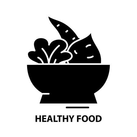 healthy food icon, black vector sign with editable strokes, concept illustration