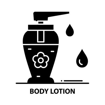 body lotion icon, black vector sign with editable strokes, concept illustration Vektorgrafik