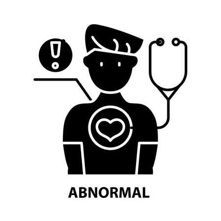 abnormal icon, black vector sign with editable strokes, concept illustration Ilustração Vetorial