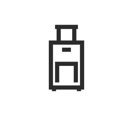 Luggage icon outline and linear vector.