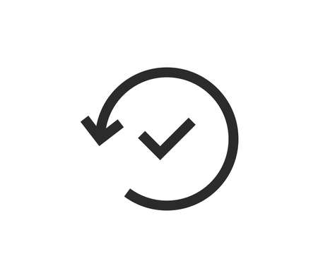 Approval icon outline and linear vector.