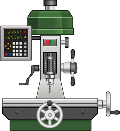 cnc: cnc drill Illustration