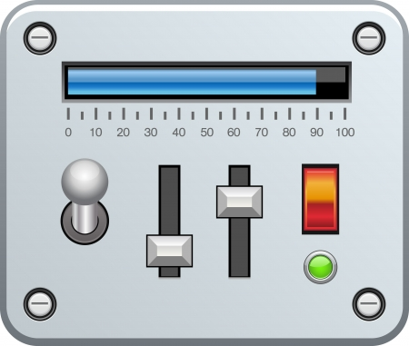 controling: Control panel with sliders