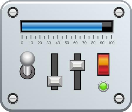 control panel: Pannello di controllo con i cursori