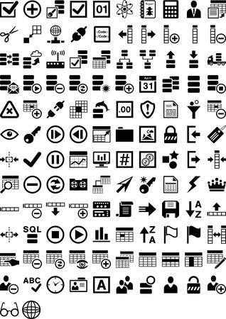 Vormen Database Stock Illustratie