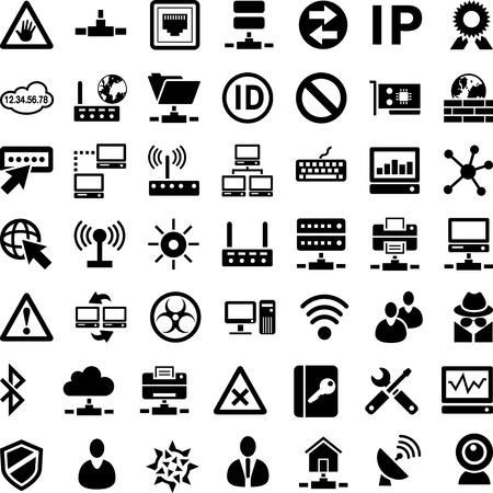 Vormen Network Stock Illustratie
