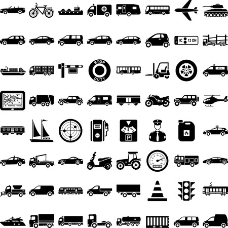 Shapes Transport Illustration