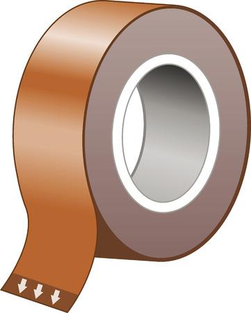 Plakband Stock Illustratie