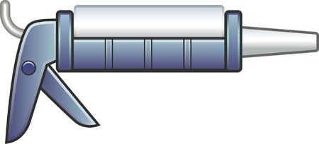 Kitpistool Stock Illustratie
