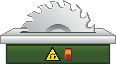 Cirkelzaag Stock Illustratie