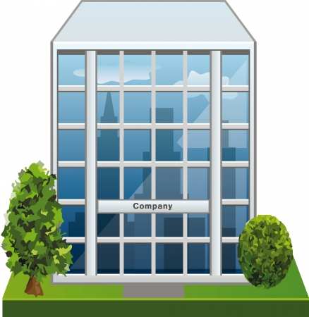 company building: Company building Illustration