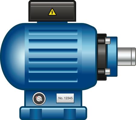 Elektrische motor Stock Illustratie