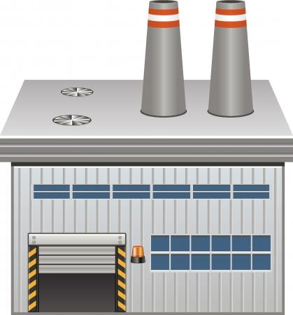 Fabrieksgebouw Stock Illustratie