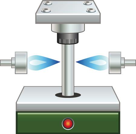 verharding machine Stock Illustratie