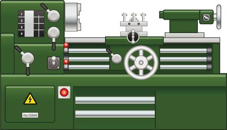 Torno Verde Ilustración de vector