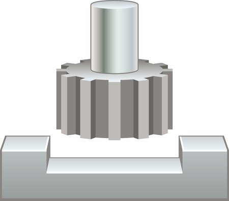Milling machine Illustration
