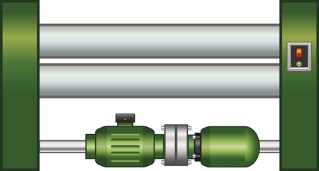 Sheet roller Illustration