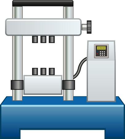 Machine voor trekproeven Stock Illustratie