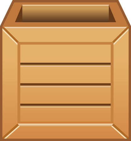 Wooden box Illustration