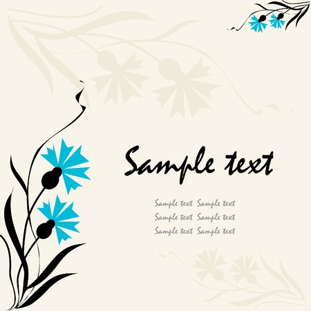 floral background, greeting card with cornflower Stock Vector - 5512416