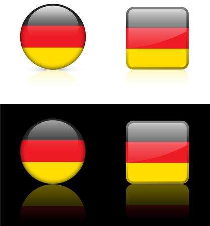 World flag series: Germany Illusztráció
