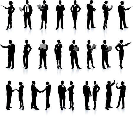 Business People Silhouette Super Set 아름다운 섹시한 모델을 특징으로하는 26 개의 독특한 높은 실루엣 각 실루엣은 그룹화되어 있습니다 파일은 AI 8 호환 및