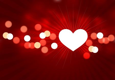 Valentines Day Illustration with hearts illustration
