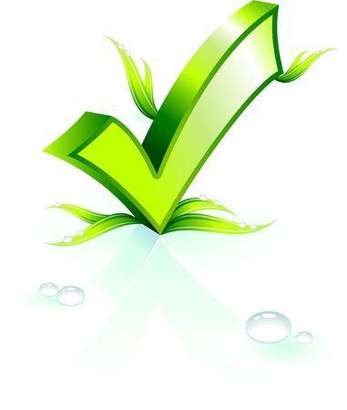 Original Illustration: Environmental check mark AI8 compatible  illustration