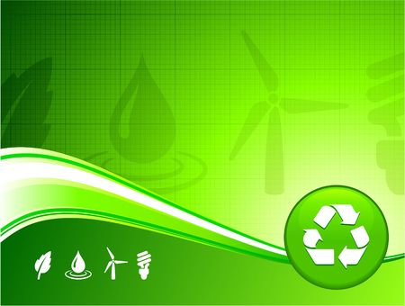 Original Illustration: Green environment background AI8 compatible Stock Illustration - 6426259