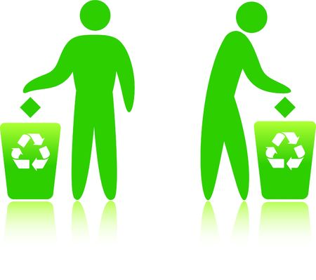 Original Illustration: recycling can  AI8 compatible  Stock Photo