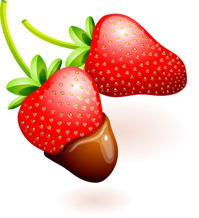 Original Illustration: chocolate covered strawberries AI8 compatible