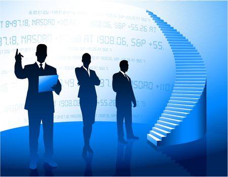 Business people Silhouette background photo
