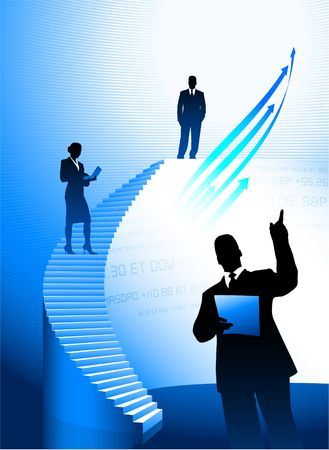 Business people Silhouette background Stock Photo - 6441773