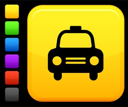 black cab: Original icon. Six color options included. Stock Photo