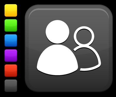 small group of objects: Original icon. Six color options included. Stock Photo