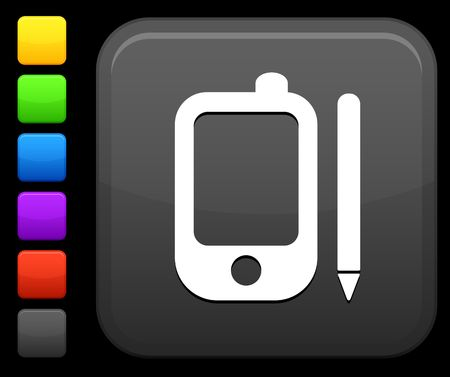 palmtop: Original icon. Six color options included. Stock Photo