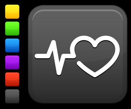 taking pulse: Original icon. Six color options included. Stock Photo