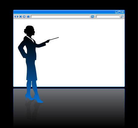 browser business: Business people Silhouette internet web browser background