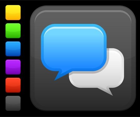 chat room: Original icon. Six color options included. Stock Photo