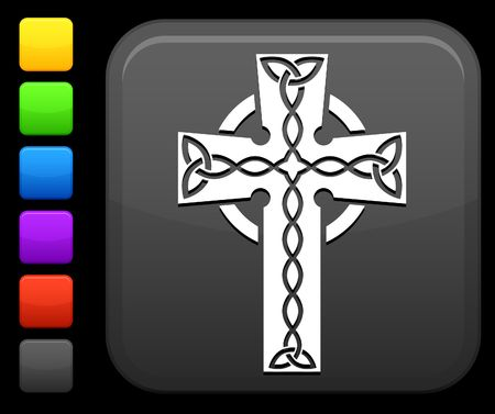 green cross: Original icon. Six color options included. Stock Photo