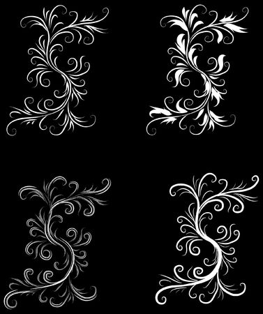 黒と白の抽象的な背景元ベクトル図黒と白のデザイン パターン理想的な抽象的な背景