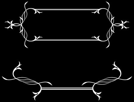 Asbtract Black and White Framing Original Vector Illustration Black and White Design Pattern Ideal for Abstract Background
